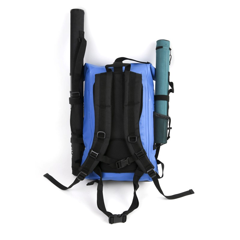 Fullmoon outfitters waterproof 30l backpack fullmoon for Backpack fishing rod